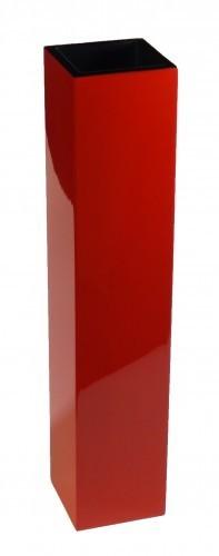 Vase 50cm hoch für Blumen und Deko Holz Pianolack