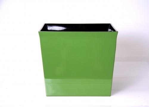 LAQ Design - Pflanzgefäß Pflanzentopf Quadratisch Holz Pianolack - 35 x 35 x 30 cm - Grün