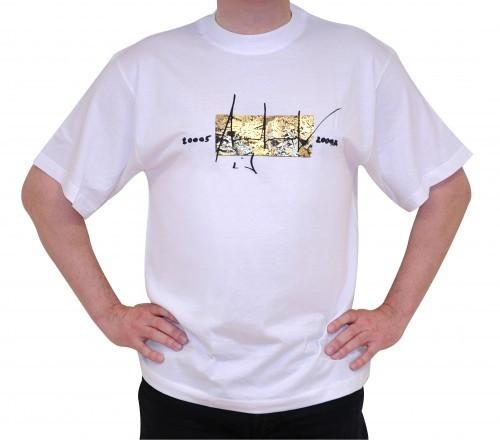 Up in Space - v. Charles Wilp - KUNST T-Shirt Limited Edition NUR 50 Stk. Sammelwürdig! (XL, Weiß)