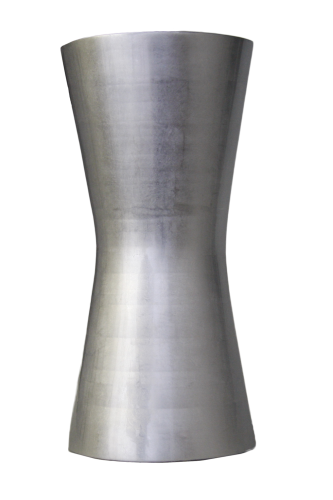 LAQ Design - Vase Halbrund 45 cm hoch - Holz - Pianolack
