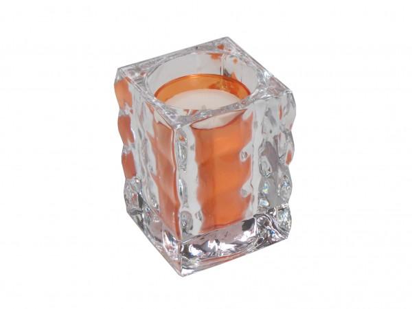 Bolsius Cubelight mit Refill aus schwerem Glas