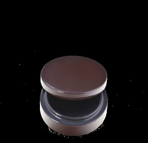 Dose mit Deckel, 8 cm Durchmesser, Schwarz