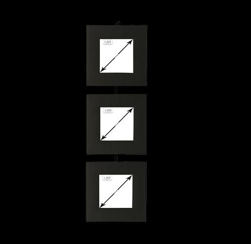 Bilderrahmen zum Aufhängen, Seide, für 3 Bilder 7x7cm, vertikal