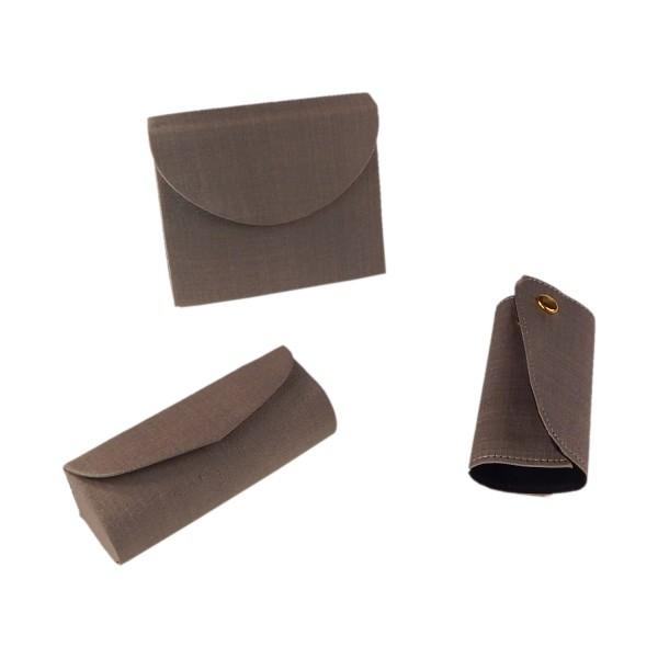 Accessoire-Set: Lippenstiftbox, Schminktasche, Schlüsselbundhalter