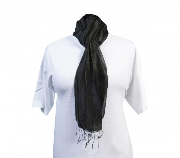 Schal aus 100% Rohseide