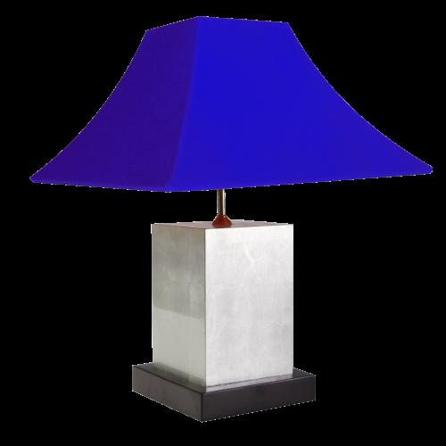 Tischlampe, 18cm, mit Blattsilberapplikation
