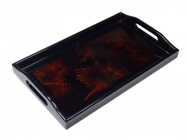 Tablett Rechteckig 25X15Cm Dunkles Muster