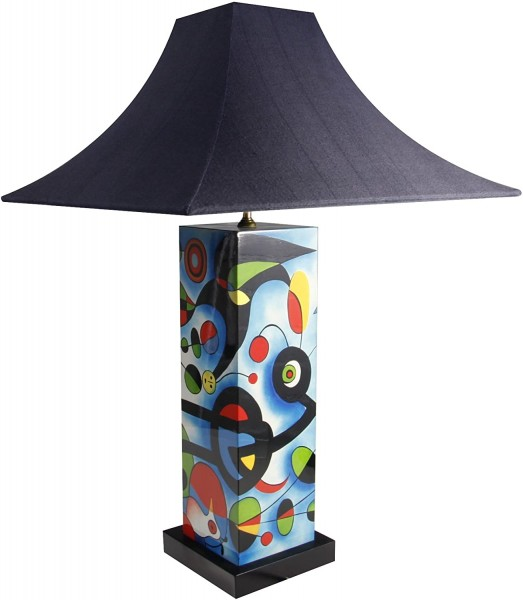 Tischlampe, Moderne Kunst, 40cm, 12fach Pianolack