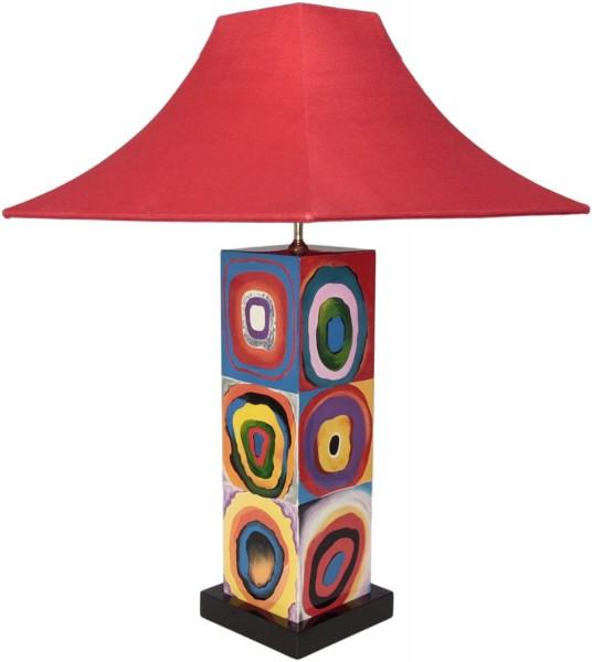 Tischlampe, Abstraktes Design, ähnlich Hundertwasser, 40cm, 12-fach Pianolack