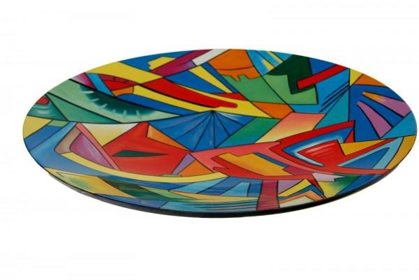 """Ø40/60cm Schale/""""Präsentierteller"""", Abstrakte Kunst - geometrisch"""