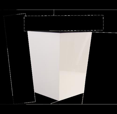 Papierkorb, Eckig, 20x20x28cm