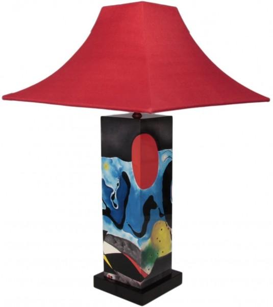 Tischlampe, Blaue Augen ähnlich Miro, 40cm, 12fach Pianolack
