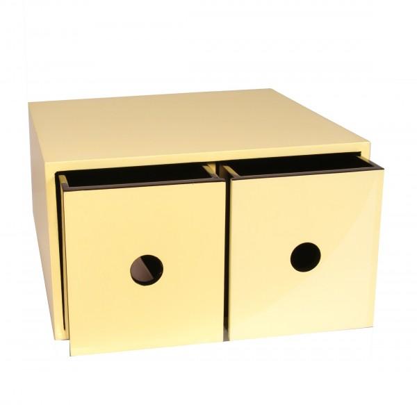 Kasten Box mit 2 Fächern Holz 12-fach Pianolack