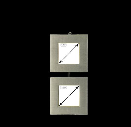 Bilderrahmen zum Aufhängen, Seide, für 2 Bilder 8x8cm, vertikal