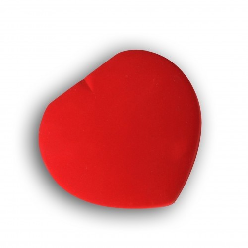 Schmuckbox, Herzform rot groß