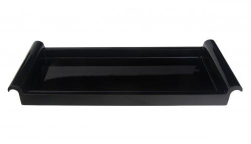 LAQ Design Tablett rechteckig Holz mit Pianolack überzogen 38 x 15 cm