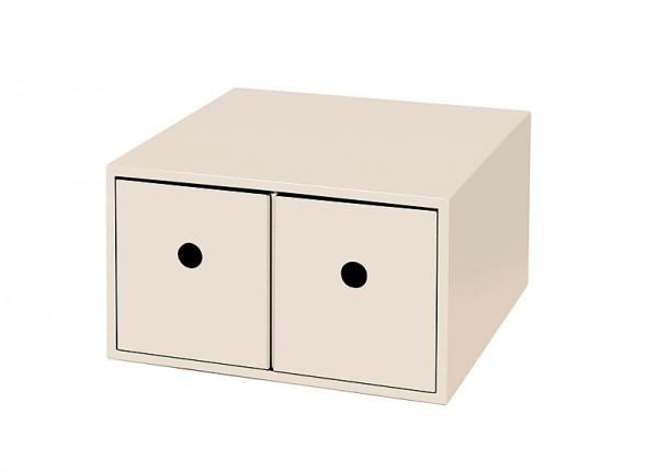 Kasten/Box für Schminkutensilien Ablagebox 2 Fächer Holz