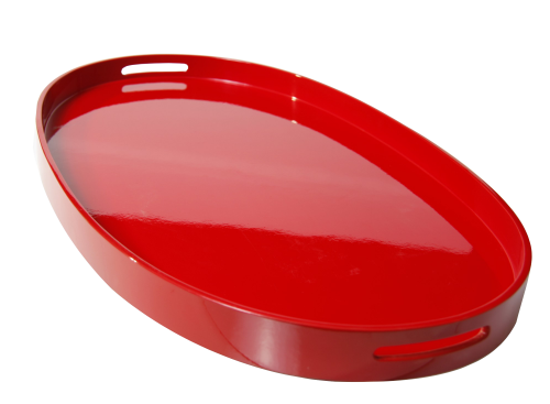 Lacquerware Tablett Oval
