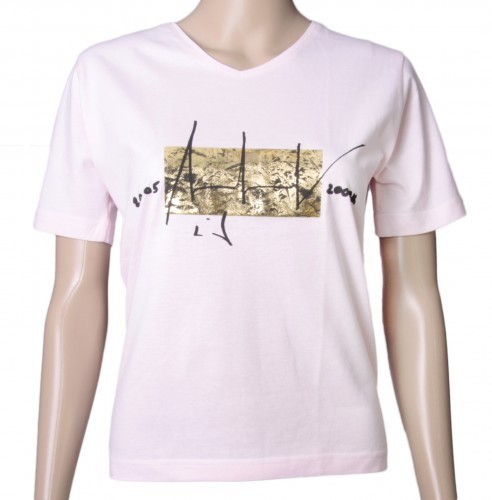 Up in Space - v. Charles Wilp - KUNST T-Shirt Limited Edition NUR 50 Stk. Sammelwürdig! (M, Rosé)