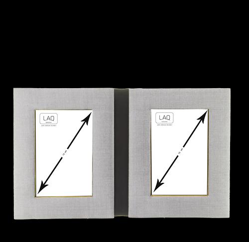 Bilderrahmen zum Aufstellen, Seide, für 2 Bilder 8x12cm, horizontal