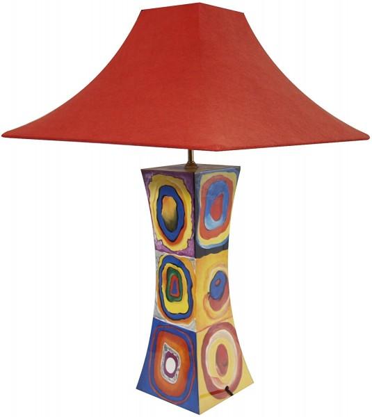 Tischlampe, Abstraktes Design ähnlich Hundertwasser, 40cm, 12fach Pianolack