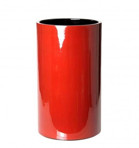 Papierkorb Holz 45 cm hoch Pianolack 20 Liter Dunkelrot