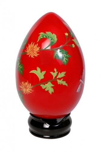 Ostern in EDEL Ei 20 cm hoch - handbemalt - in eigener Manufaktur aufwendig verarbeitet!