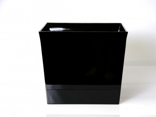 LAQ Design - Pflanzgefäß Pflanzentopf Quadratisch Holz Pianolack - 35 x 35 x 30 cm - Schwarz