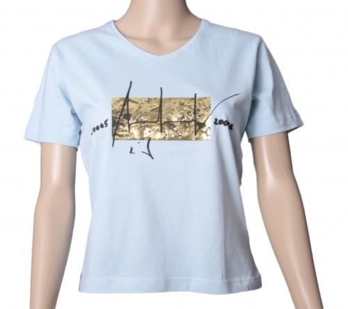 Up in Space - v. Charles Wilp - KUNST T-Shirt Limited Edition NUR 50 Stk. Sammelwürdig! (S, Hellblau