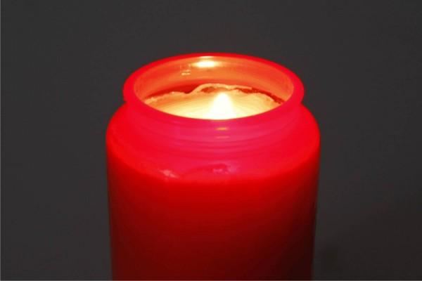 Bolsius Grablicht rot klein (Kompositions-Öllicht 9,5cm)