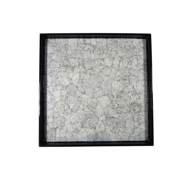 Tablett Holz Pianolack 20x20 cm Gänseeierschalen