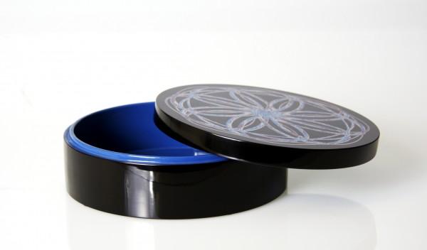 """Dose Rund 21 cm Retrodesign """"Spiral Blue"""