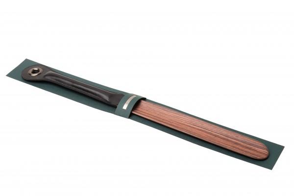 EDLER Schuhanzieher Palisanderholz mit Ledergriff