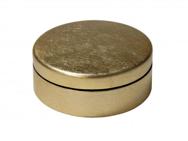 Dose mit Deckel, 8 cm Blattgold