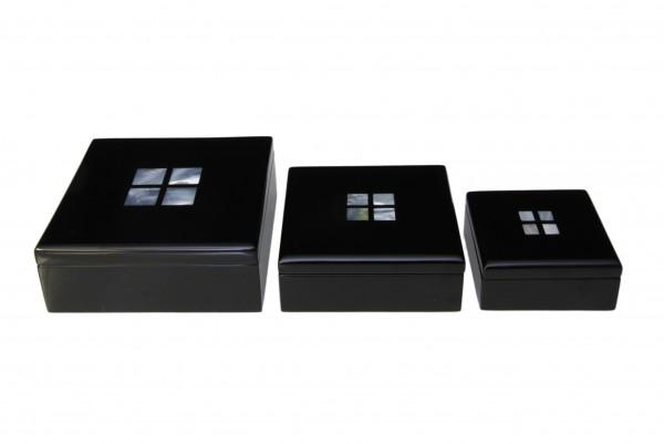 Box Quadratisch Rot mit Perlmutintarsie