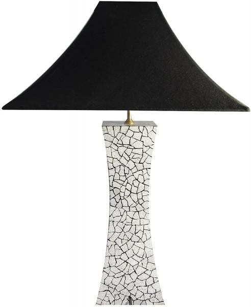 Tischlampe, Eierschalenintarsien, 40cm, 12fach Pianolack