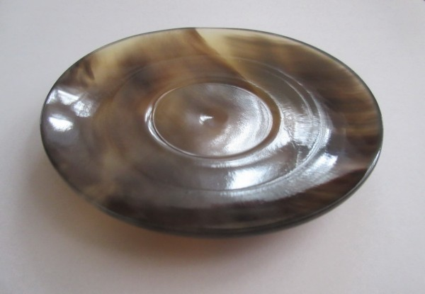 Schale aus Büffelhorn, rund, 9x1cm