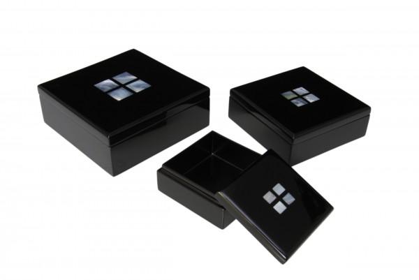 Box Quadratisch mit Perlmuttinarsien