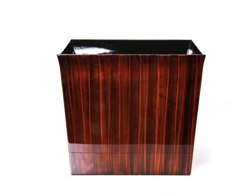 LAQ Design - Pflanzgefäß Pflanzentopf Quadratisch Holz Pianolack - 35 x 35 x 30 cm - Braun