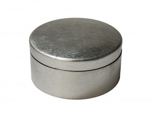 Dose rund mit Deckel 10 cm Durchmesser Blattsilber