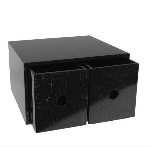 Kasten/Box für Schminkutensilien m. 2 Schubladen
